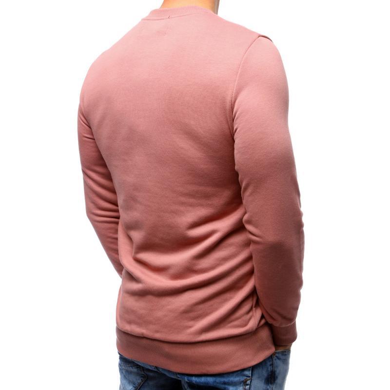 8351a673ce7 Pánská elegantní mikina bez potisku růžová