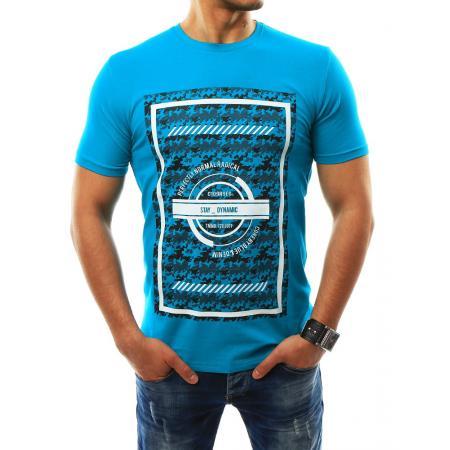 Pánská tričko s potiskem tyrkysové