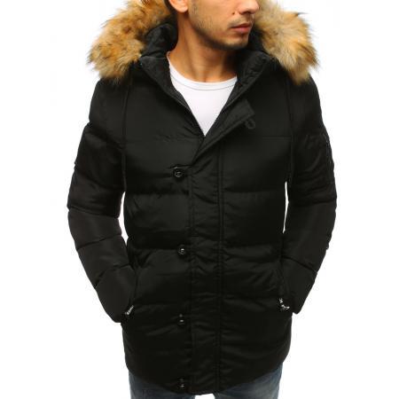 Pánská zimní bunda prošívaná černá 41e13051b9
