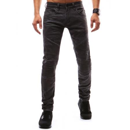Pánské jeansové kalhoty maskáčové antracitové