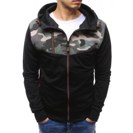 Pánská mikina se zipem s kapucí černá
