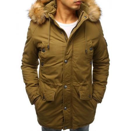 Pánská zimní bunda parka khaki