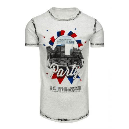Pánská tričko s potiskem šedé