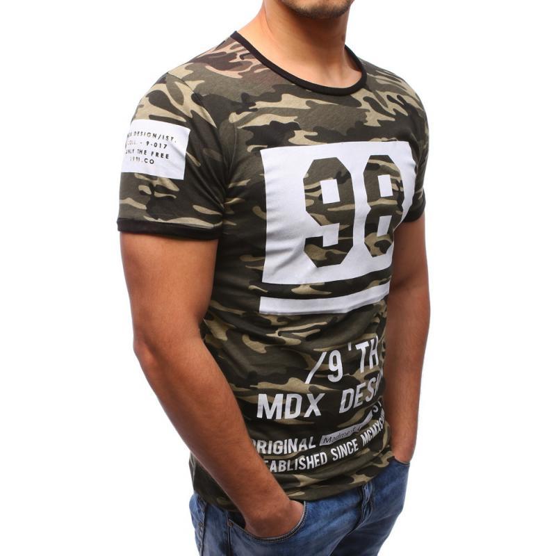 c9d59748537d Pánské tričko s potiskem s maskáčovým vzorem
