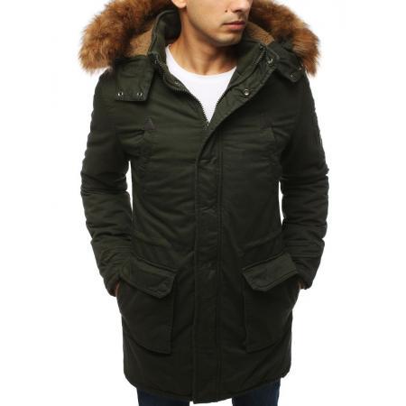 Pánská bunda parka zimní khaki TX3056
