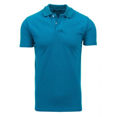 Pánské modré tričko s límečkem