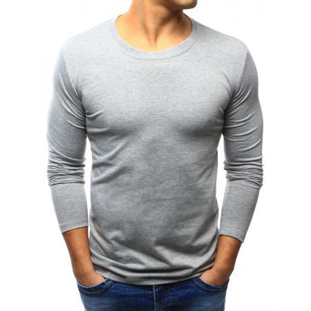 Pánské šedé triko s dlouhým rukávem