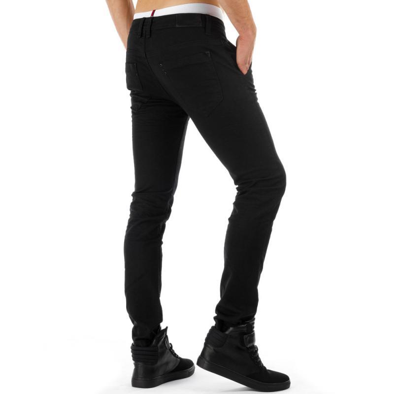 Pánské moderní džínové (jeansové) kalhoty černé  d544cc9339