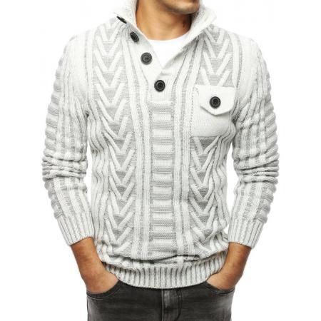 Pánský MODERN svetr se stojatým límcemecru