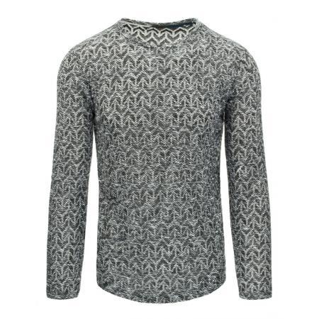 Pánský moderní svetr černo bílý