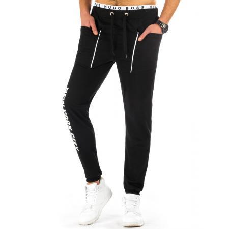 Pánské teplákové kalhoty baggy černé