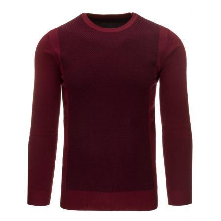 Pohodlný pánský svetr v barvě bordó
