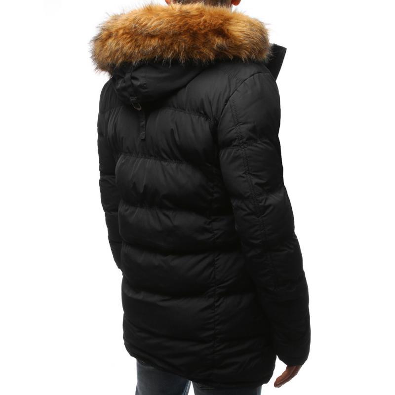 d07316525856 Zimní pánská bunda prošívaná černá