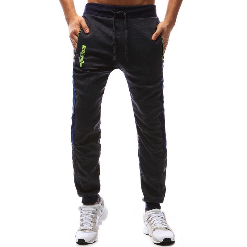 97957d00717a Pánské kalhoty tmavě modré tepláky