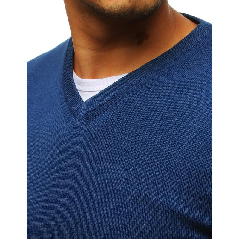 Pánský svetr STYLE elegantní modrá  718bec19b9