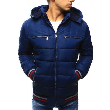 Pánská bunda zimní prošívaná světle modrá
