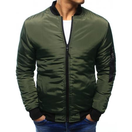 Pánská bunda bomber jacket zelená 027f47dade5