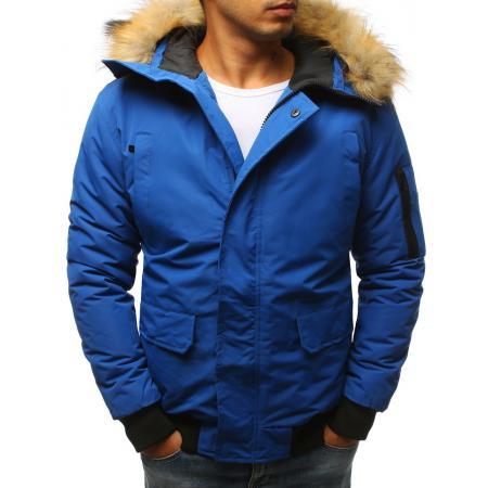 Pánská zimní bunda, nebesky modrá