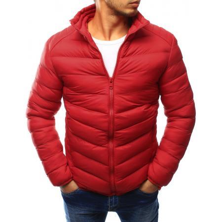Pánská bunda prošívaná červená