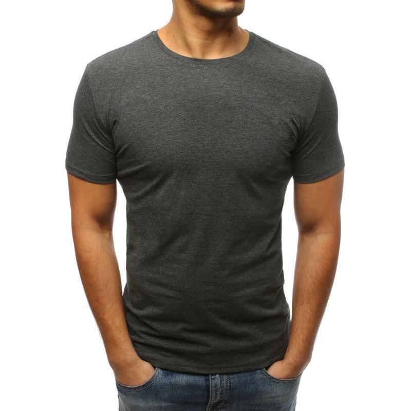 b341ad3b7837 Pánské jednobarevné tričko STYLE antracitové