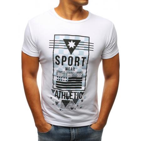 Pánské tričko bíle s potiskem