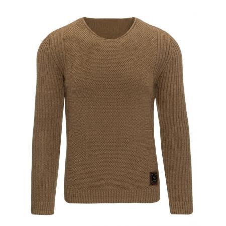 Pánský moderní svetr hnědý