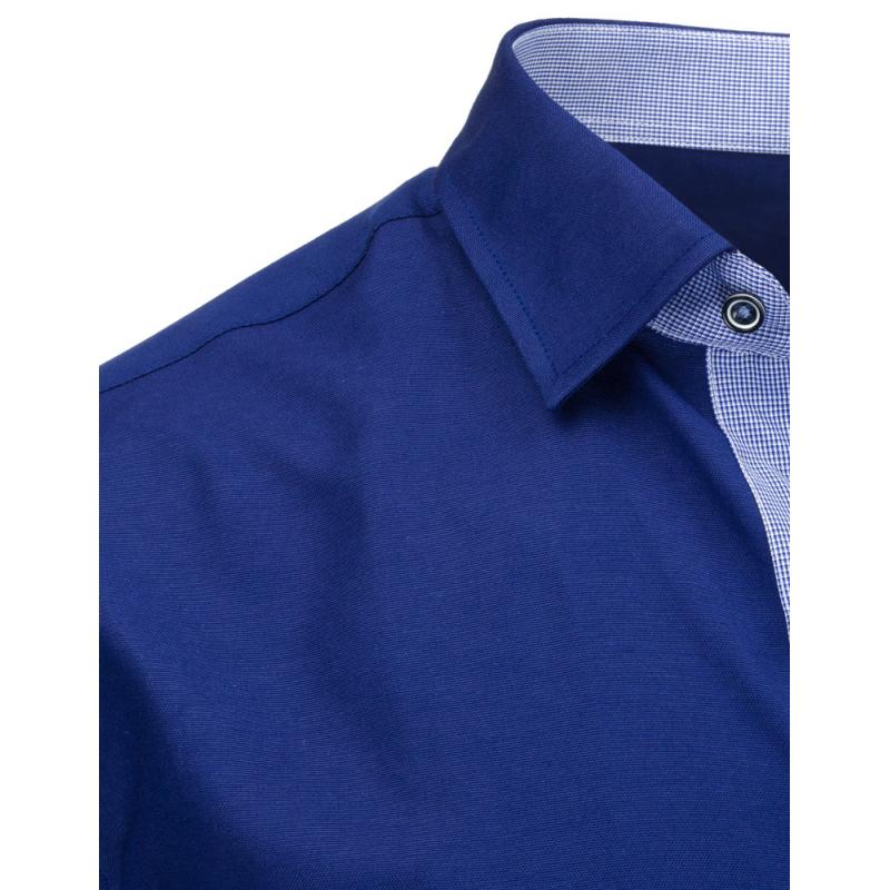 d2b4f3ad14c Tmavě modrá pánská košile s dlouhým rukávem slim fit