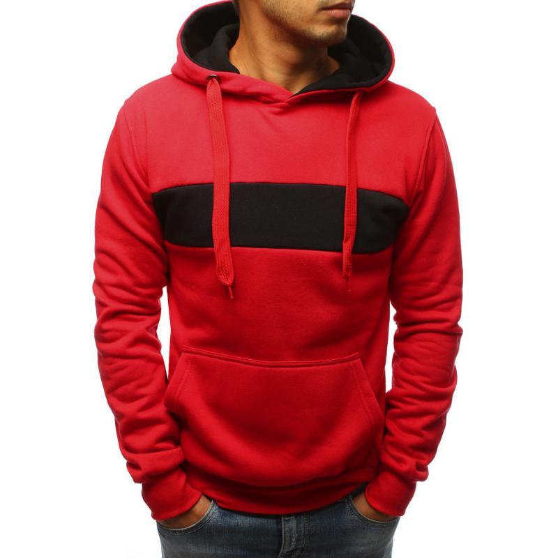 d33e348c6f3 Pánská mikina s kapucí červená