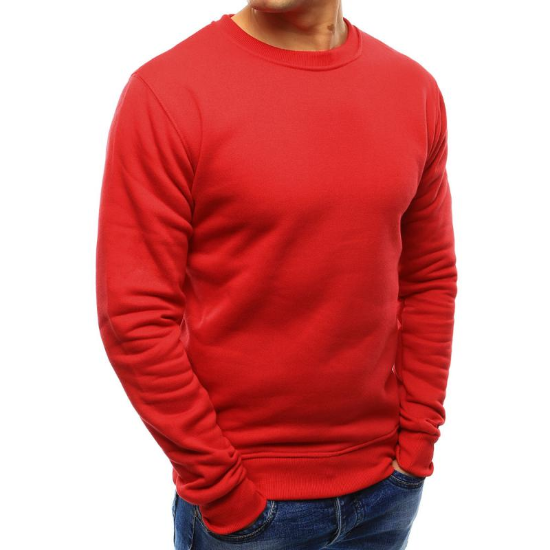 Pánská ELEGANT mikina jednobarevná červená  b949363556