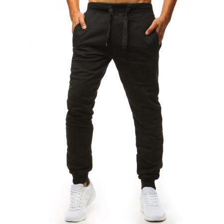 7352b809a5f Pánské kalhoty STYLE tepláky černé bez potisku