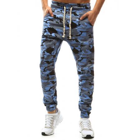 Pánské kalhoty joggery maskáčové modrá