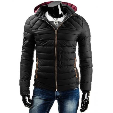 Pánská moderní zimní bunda černá