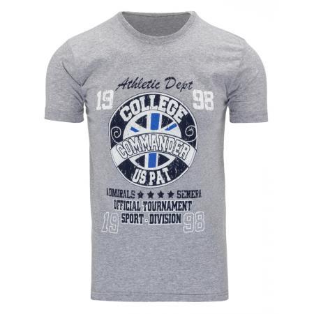 Pánské tričko s potiskem (triko) šedé