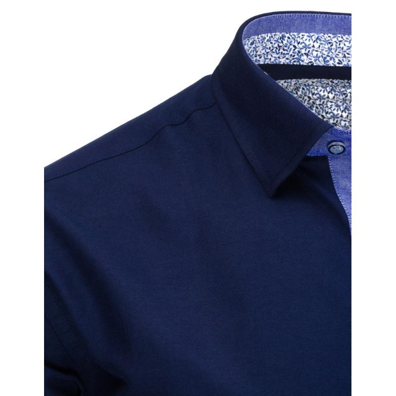164af692a8b Tmavě modrá pánská košile s dlouhým rukávem slim fit