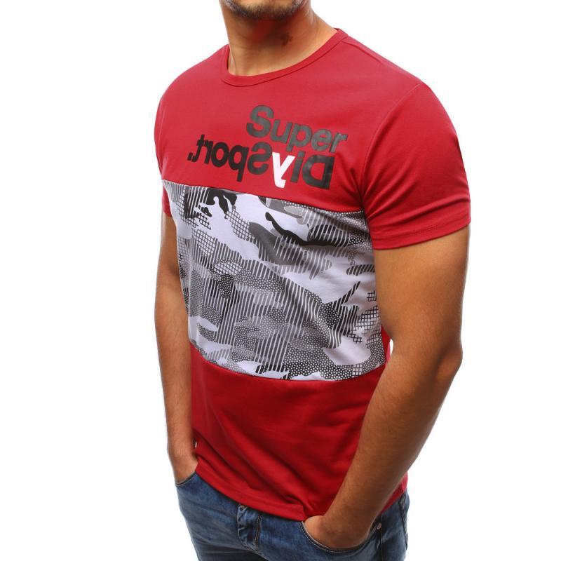 Pánské červené tričko s potiskem STYLE  df9b58138d