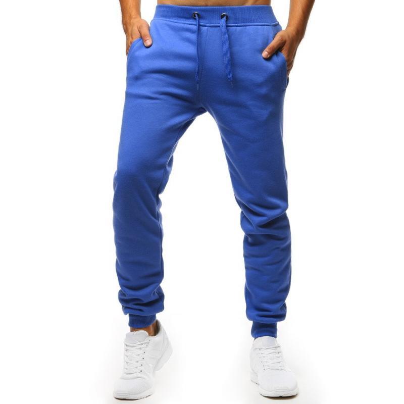 2cd9f5003e5e Pánské STYLE kalhoty tepláky modré bez potisku