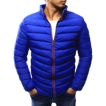 Pánská bunda prošívaná světle modrá