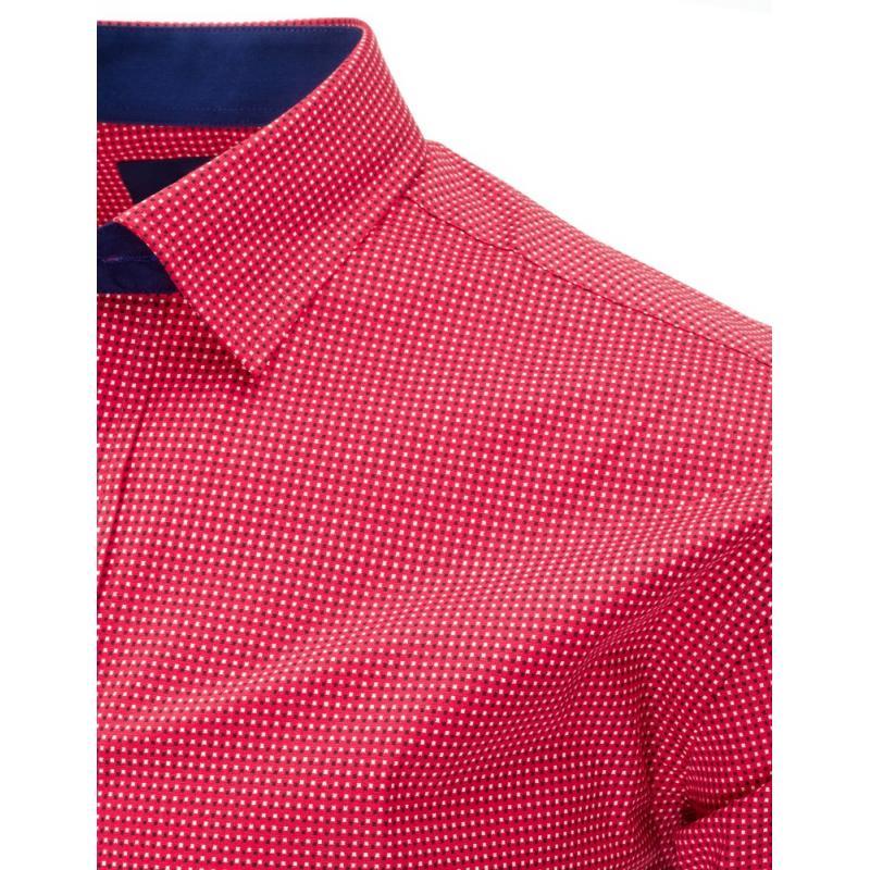 Pánská košile elegantní růžová slim fit  c17ff31c56