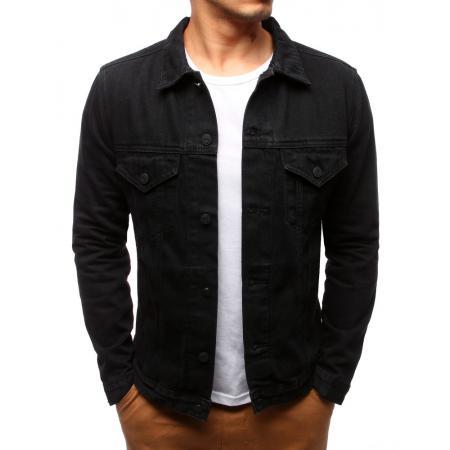 Pánská bunda džínová černá