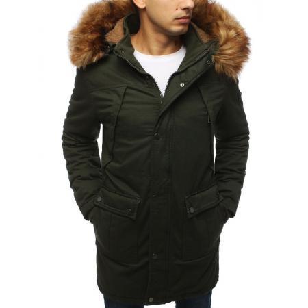 Pánská bunda parka zimní khaki TX3061