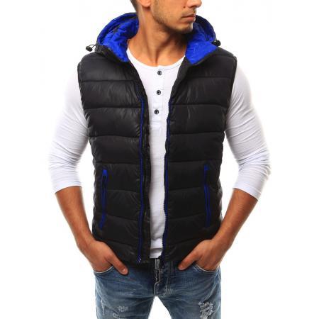 2cba30eadf1 Pánská vesta s kapucí černá