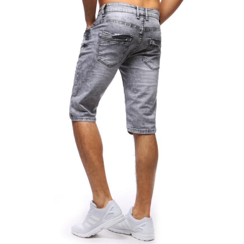 Pánské jeansové kraťasy STYLE šedé  c34850e7a1
