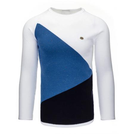 Pohodlný pánský svetr v barvě bílé