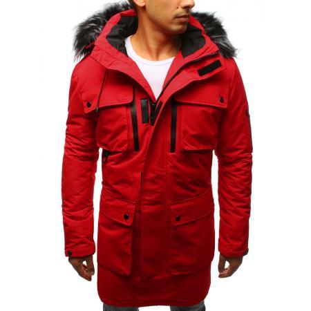 Pánská zimní park bunda červená