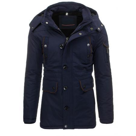 Pánská bunda (parka) zimní tmavě modrá