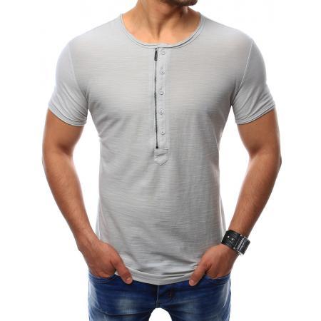 Pánská tričko bez potisku šedé