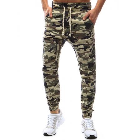 Pánské kalhoty joggery maskáčové béžové