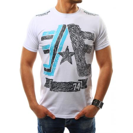 Pánská tričko s potiskem bílé