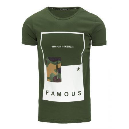 Pánská tričko s potiskem zelené