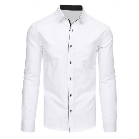 Elegantní pánská košile bílá s dlouhým rukávem
